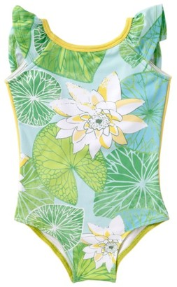 Toddler Girl's Masalababy Flutter Print One-Piece Swimsuit $44 thestylecure.com