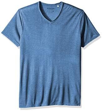 GUESS Men's Lash Raw Hem V Neck T Shirt
