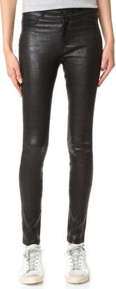 PAIGE Hoxton Stretch Leather Pants $975 thestylecure.com