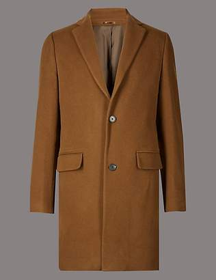 Autograph Wool Rich Revere Overcoat