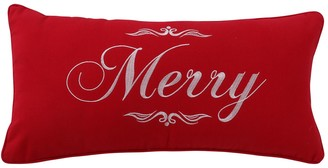 "Levtex Home Christmas Script ""Merry"" Oblong Throw Pillow"