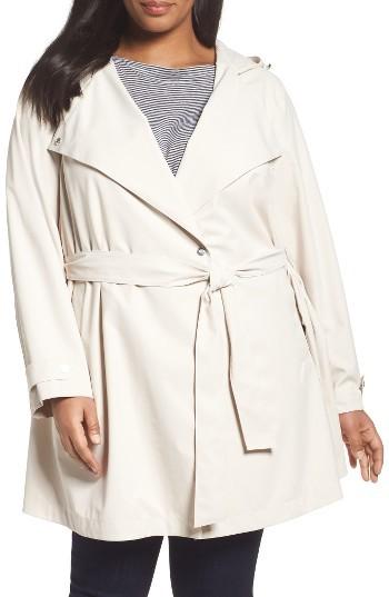 BernardoPlus Size Women's Bernardo Breathable Microfiber Trench Coat