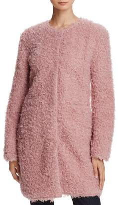 Via Spiga Reversible Lightweight Faux Fur Coat