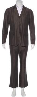 John Varvatos Plaid Two-Piece Suit brown Plaid Two-Piece Suit