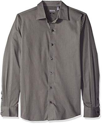 Van Heusen Men's Slim Fit Stripe Sateen Long Sleeve Shirt