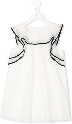 Chloé Kids ruffle-trimmed dress