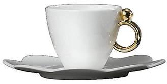 Prouna Geometrica Gold Espresso Cup & Saucer