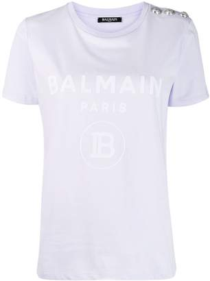 Balmain button embellished T-shirt