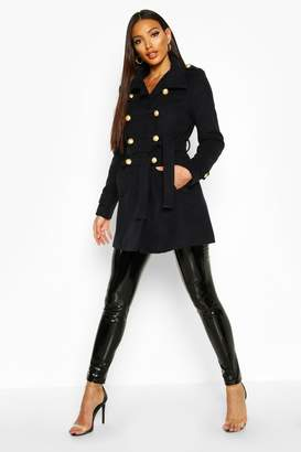boohoo Military Wool Look Coat