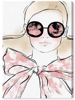 "Oliver Gal Gallery Girl Sunglasses Look Canvas Art - 20""x30\"""