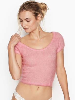 Victoria's Secret Victorias Secret Cropped Short-sleeve Sweater