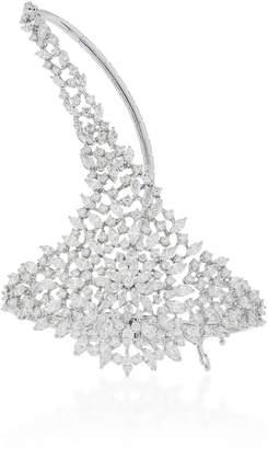 Yeprem 18K White Gold Diamond Hand-Bracelet