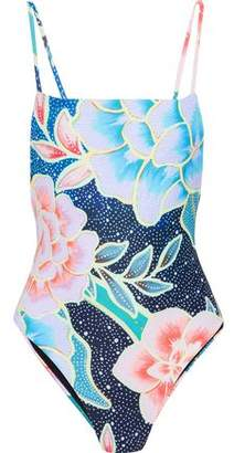 Mara Hoffman Open-Back Printed Swimsuit