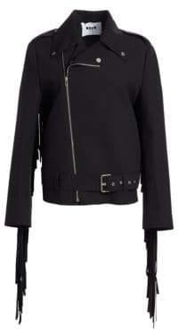 MSGM Fringe Moto Jacket