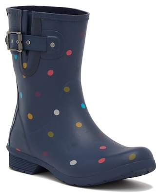 Chooka Classic Waterproof Mid Lottie Dot Rain Boot