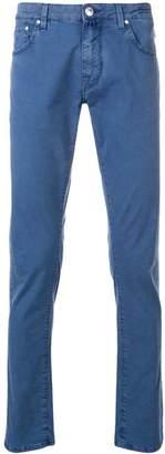Jacob Cohen slim-fit jeans with pocket square