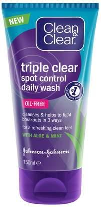 Clean & Clear Triple Clear Control Daily Wash