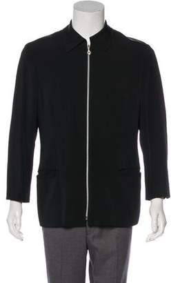 Versace V2 Wool-Blend Zip-Up Jacket