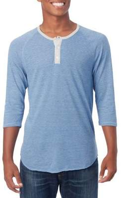 Alternative Eco-Jersey Three-Quarter Sleeve Henley
