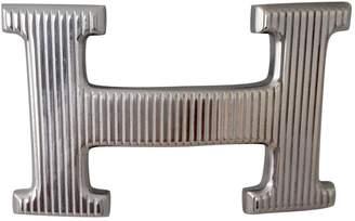 Hermes H Silver Metal Belts