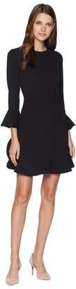 Jill Stuart Ruffle Hem and Sleeve Detail Dress Women's Dress