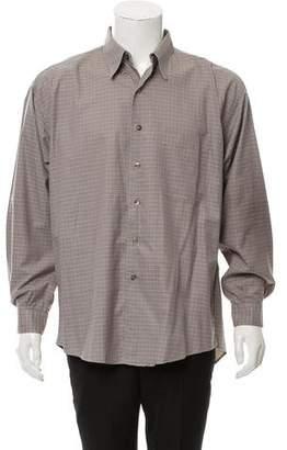 Burberry Check Print Button-Up Shirt