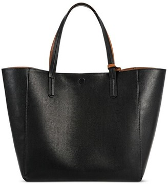 Merona Women's Reversible Faux Leather Tote with Removable Pouch- Merona $36.99 thestylecure.com