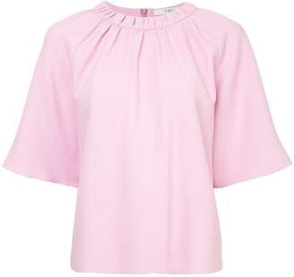 Tibi shirred neck blouse