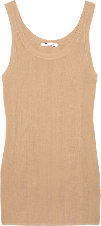 T by Alexander Wang Ribbed cotton tank