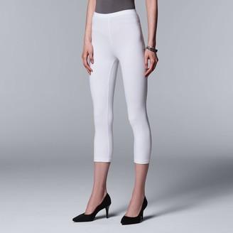 1f159b34810 Vera Wang Simply Vera Low-Rise Capri Leggings