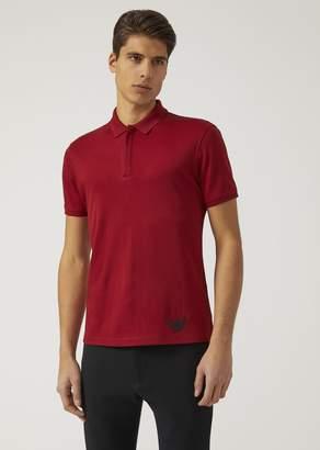 Emporio Armani Polo Shirt In Cotton Jersey