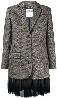 Moschino frill-trim fitted blazer
