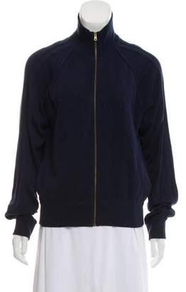 Chloé Silk Zip-Up Jacket