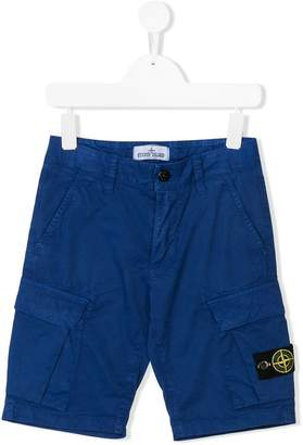 Stone Island Junior cargo shorts