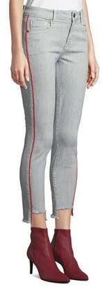 Parker Smith Twisted Seam Skinny Step-Hem Mid-Rise Jeans
