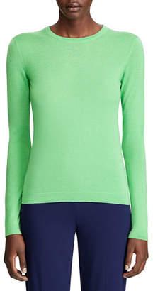 Ralph Lauren Cashmere Fitted Crewneck Sweater