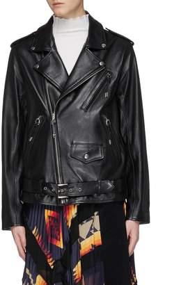 TOGA ARCHIVES Lace-up leather biker jacket