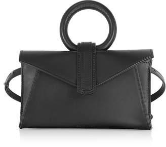 Valery Complet Black Leather Micro Belt Bag /Shoulder Bag