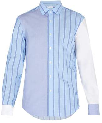 J.W.Anderson Striped Cotton Shirt - Mens - Blue