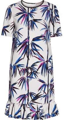 Emilio Pucci Ruffle-Trimmed Printed Crepe Dress