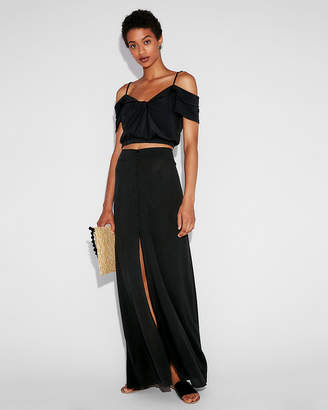 Express Button Front Maxi Skirt