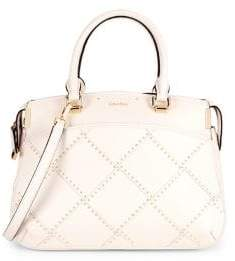 Calvin Klein Raelyn Stitched Studded Top Handle Bag