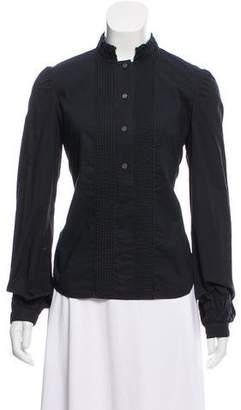 Diane von Furstenberg Ruffle- Accented Button Up Shirt