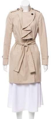Diane von Furstenberg Spy Ruffle Trench Coat