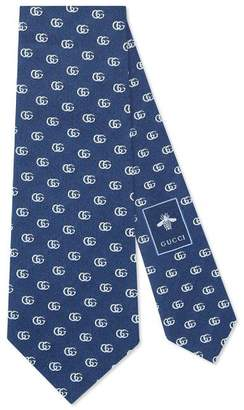 Gucci Double G silk tie