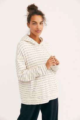 Monrow Stripe Oversized Hoodie