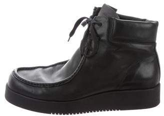 Calvin Klein Collection Leather Chukka Boots