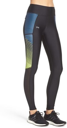 Women's Under Armour 'Fly By' Mesh Inset Heatgear Leggings $59.99 thestylecure.com