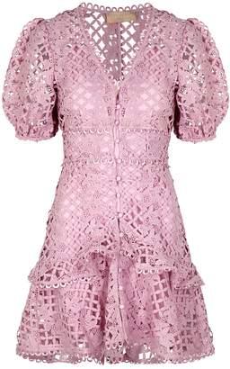 Keepsake Lovable Lilac Guipure Lace Mini Dress
