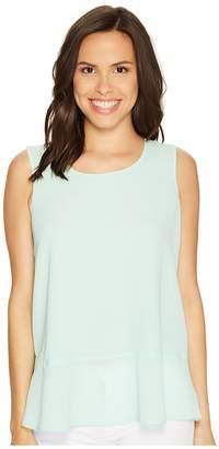 Ellen Tracy Flounce Hem Shell Women's Clothing